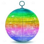 Multicoloured Disco Ball